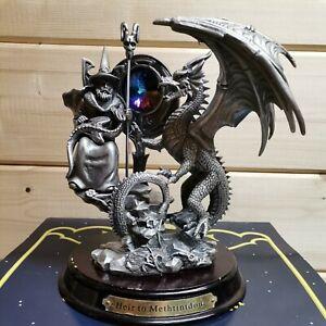 Myth and Magic Heir to Methtintdour Large Wizard Dragon mainly Blue Crystal OY08