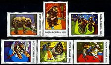 1994 Circus,Tiger,Bike,Cycle,Elephant,Clown,Bear,Monkey,Horse,Romania,M.5026,MNH