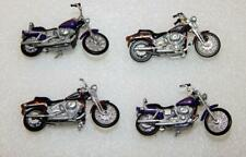 FOUR MTH Trains HARLEY DAVIDSON Motorcycles 2002 Dyna Wide Glide Sport 1/43 O