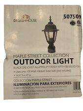 Design House Maple Street Black Outdoor Die-Cast Post Mount Light Fixture(6J.302
