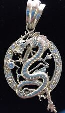 Dragon Silver 925  Charm  With Stone