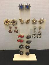 Back Earrings Lot Of (10pr) Vintage Assorted Estate Fashion Screw