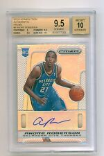 2013-14 Panini Prizm - BGS 9.5, ANDRE ROBERSON, 8/25 REFRACTOR Rookie AUTO #9