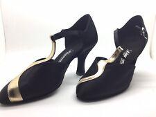 Chaussure de danse de salon pour femme:diamant couleur:noir et or taille:36,5