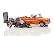 1:24 Danbury Mint Chevrolet Custom Pickup and Chopper Set Custom Cycles #