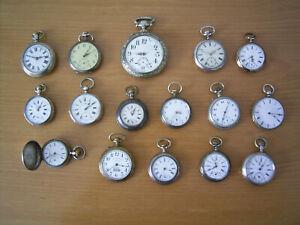 Taschenuhren Alt Sammel-Konvolut 16 Stück 12x Silber Roskopf und andere