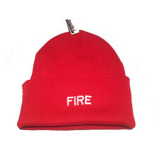 1 x Fire & Rescue Red Woolly Hat Retaining Fire Personnel 999 Emergency Services