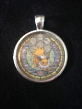 Kingdom Hearts Themed Stained Glass Necklace Keyring Pokemon Jolteon