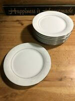 "Set of 8 Crown Ming Fine China Royal Palm Salad Dessert Brunch Bread Plates 7.5"""