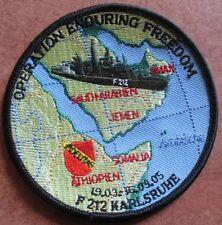 Fregatte Karlsruhe OP Enduring Freedom 2005 Marine Patch Abzeichen Navy