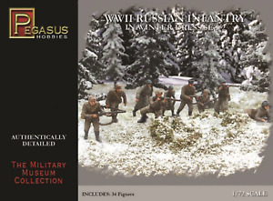 Pegasus Wwii Russian Infantry/Winter 34Pcs Set 2, #PEG7272
