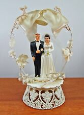 Vintage 1950s Coast Novelty Wedding Cake Topper Bride Groom Figurines