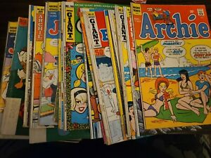Very old Comic Lot 1960s Jimmy Olsen Archie Disney Pep Homer Iliad 36 book rare!