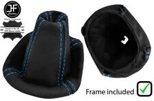 BLUE  STITCH LEATHER GEAR BOOT WITH PLASTIC FRAME FITS SMART FORFOUR 2004-2006