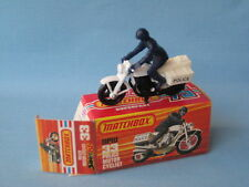 Lesney Matchbox Honda Police Bike Motorcycle Blue Rider Black Engine and Wheels