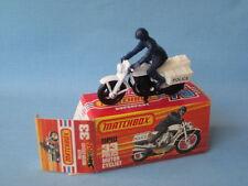 Lesney Matchbox Honda Police Bike Motorcycle Blue Rider Black Engine and Wheels