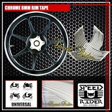 CHROME RIM TAPE WHEEL STRIPE TRIM MOTO CAR BIKE BICYCLE STICK DECAL 16 17 18 19