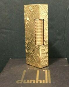 Vintage Dunhill Rollalite Gold Tone Butane Cigarette Lighter in Original Box