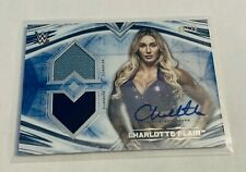 B16,194 - 2020 Undisputed WWE Dual Relic Autograph Blue Charlotte Flair #5/25