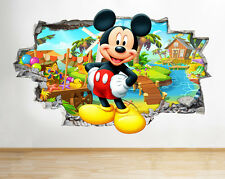 Z051 Mickey Mouse Chicos Cool Guardería Adhesivo de pared Póster 3d Arte