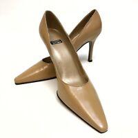 STUART WEITZMAN AUTH $399 Women's Tan Leather Pumps Size 6.5B High heels NWOB