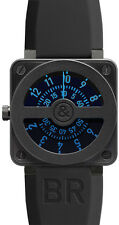 BR-01-COMPASS-BLUE | BELL & ROSS AVIATION | BRAND NEW LIMITED EDITION MENS WATCH