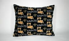 TWO-NEW ORLEANS SAINTS PRINTED FLEECE STANDARD CASES / BLACK FLEECE BACK