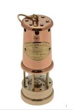 Welsh Miners Lamp (Copper & Brass) - Medium 6C - Real Working Lamp Replica