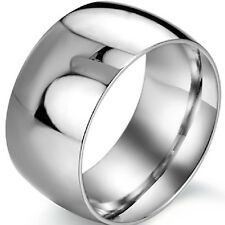 Size O to Z5 12MM Stainless Steel Ring Wedding Engagement Valentine Anniversary