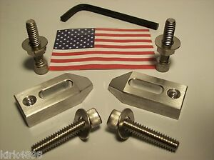 1/4 20 CLAMP SET FOR MACHINIST TOOL ROOM OR HOBBY. SET OF TWO WITH HARDWARE
