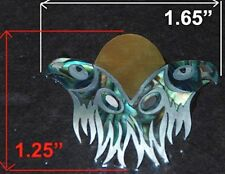 PH48# Twin Eagles Peghead Inlay Abalone & White Mother of Pearl 1.5mm thickness