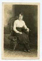 Real Photo Postcard - ULRICH Family Lady (1918) St Louis, Missouri (Mable)