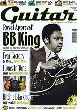 BB KING / FEAR FACTORY / RITCHIE BLACKMOREGuitar MagazineSeptember2001