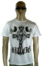 Amplified Ikons HOLY Tête de mort strass rock star motard design Vip tee-shirt