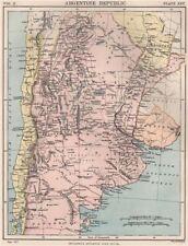 REPUBBLICA ARGENTINA. ARGENTINA. Britannica 1898 VECCHIO ANTICO MAPPA piano Grafico