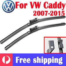Pair wiper blade windscreen frameless for Volkswagen VW  CADDY 10/2007 - 12/2015