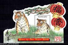 "Vanuatu - ""YEAR OF THE TIGER 2010"" Odd - Shaped Miniature Sheet MS !"