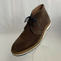 1901 Mens Chukka Boots Brown Leather Suede Lace Up Size 11.5M