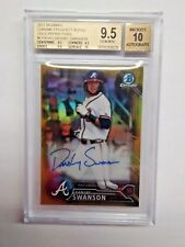 DANSBY SWANSON 2016 BOWMAN CHROME PROSPECTS AUTO GOLD REFRACTOR BGS 9.5 41/50