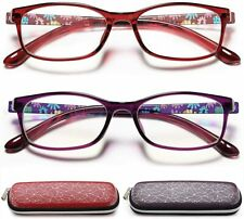 Computer Reading Glasses Womens Blue Light Blocking 2 Pack Lightweight +2.25x