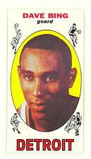 1969-70 TOPPS BASKETBALL DAVE BING HOF ROOKIE CARD #55 EXMT-NM NO CREASES(374)