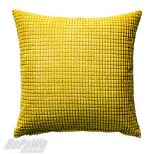 IKEA GULLKLOCKA 4 X Kissenhüllen gelb Dekokissen Kissenbezug 50x50cm