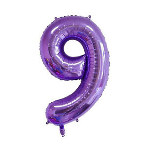 """40"""" Purple Number 0/1/2/3/4/5/6/7/8/9 Foil Balloon Birthday Party Decoration"""