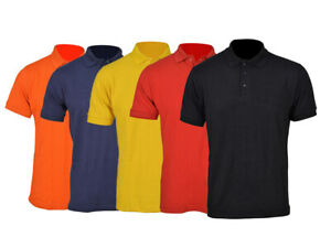 Unisex Poloshirt Piqué Polohemd Kurzarm, Arbeit Hemd Unifarben, Freizeit Shirt