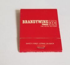 Vintage Matchbook Brandywine Room The Hotel Dupont Wilmington Delaware Tobacco