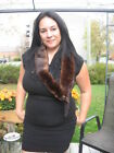 """#X64 SET OF 2 MINK FUR WRAPS DARK BROWN each mink is about 27"""" inches long 3.5"""""""