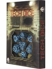 Q-Workshop Tech Dice Set (7 Polyhedral) Black & Blue STEC67