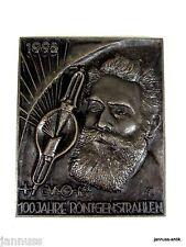 Gusseisernes Schild von Buderus 100 JAHRE RÖNTGENSTRAHLEN Jahresedition 1995