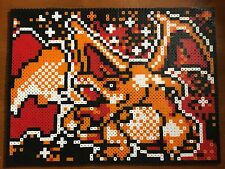 "Pokemon Framed Wall Art- Charizard Retro Trading Card Pixel Art 11"" X 14"""
