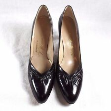 """New listing Womens Shoes Size 8 Aaa Vintage Black Leather Pumps Heels 2 3/4"""" heel"""